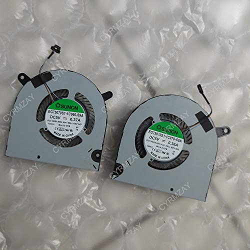 CYRMZAY Ordenador portátil CPU+GPU Ventilador Cooler Notebook PC para DELL G3-3590 EG75070S1-1C060-S9A EG75070S1-1C070-S9A