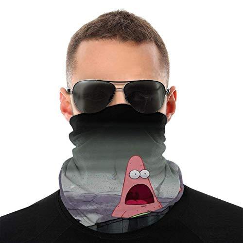 Lustige Tumblr Spongebob Patrick-Multifunktionale Kopfbedeckung Bandana Sports Face Covers, Bandana Mundschutz Halsmanschette für Workout Running für Unisex