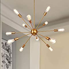 💡Suitable Occasion of mid century ceiling light: Modern and elegant design for home accessories.Beautiful and impressive looking chandelier light fixture.Recommend to this industrial ceiling light decor your Living Room,Bedroom,Dining Room,Fine Weste...