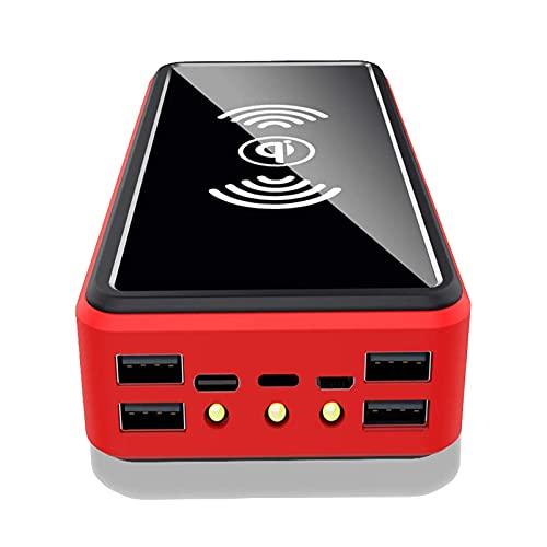 PWQ-01 Solar Cargadores 30000 Mah, Power Bank Solar [Tipo C Y Micro USB] Cargadores Portátil Inalámbrico Carga Rápida 10W Batería Externa 3 Puertos USB Compatibles con Teléfonos, Tabletas Y Más
