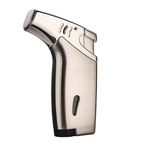 Promise by Honest Jet Torch Cigar Lighter, Power Flame Adjustable Butane Refillable Cigar Lighter Outerdoor(BN Nickel)