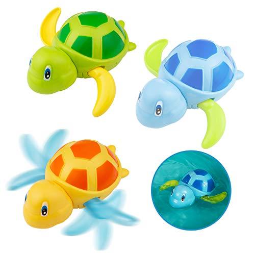 Diealles Shine Tartaruga Giocattolo Che Nuota, Giocattoli da Bagno for Bambini Toddlers Boys Girls, Vasca da Bagno Pool Toy Confezione da 3