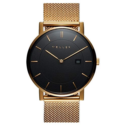 Meller - Astar All Gold L - Unisex Erwachsene Analog Quarz Uhr mit Edelstahl Armband