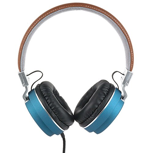 Intempo EE3072BLUSTK Kopfhörer in Lederoptik, matt, Blau