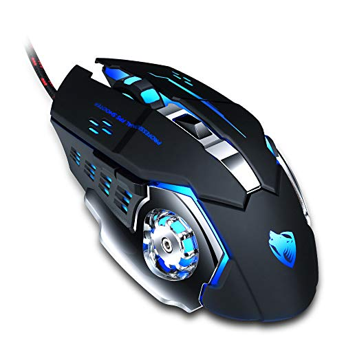 Pro Gaming Mouse Wired Computer Mice 8D Optical LED Mouse Noiseless 3200DPI Adjustable