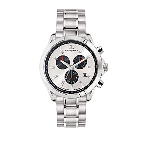 PHILIP WATCH Orologio da polso da uomo Blaze, cronografo, al quarzo, in acciaio inox, R8273665003