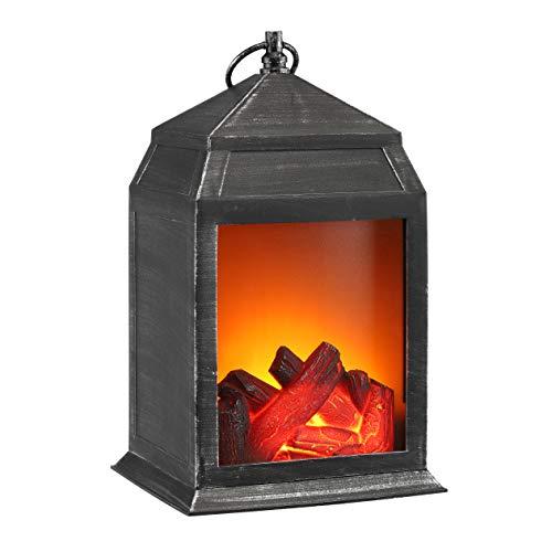 Kaminlaterne LED Tischkamin Feuerlaterne Laterne Kamin Feuer Elektrokamin