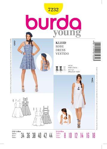 Burda patroon 7232 jurk, Vestido, jurk, maat 34-44