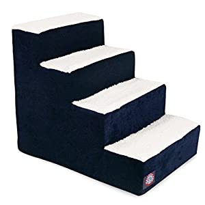 4 Step Portable Pet Stairs By Majestic Pet Products Villa Navy Blue Steps for Cats and Dogs