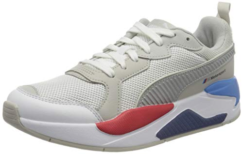 PUMA Unisex BMW MMS X-Ray Sneaker, White Silver-Gray Violet, 44 EU