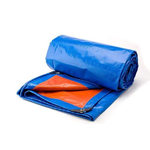 Vele parasole LQ Addensare Tarpaulin Blu Arancione Tarpaulin Colore Striscia Parasole -Pioggia Tessuto Antipioggia Telone di plastica Tela Cerata Cano