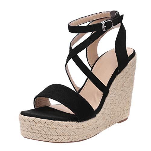 Luckycat Sandalias para Mujer, 2019 Zapatos de cuña de Mujer de Las señoras Zapatos de tacón Alto de la Plataforma de Las Sandalias de Verano