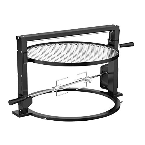 only fire Santa-maria Style Grill Rotisserie System Adjustable Cooking Grate Attachment for Weber 22 inch Kettle Grills