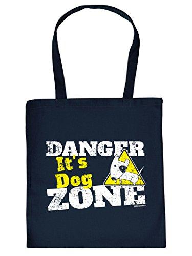 Mega schöne Einkaufstasche Baumwolltasche Tragetasche für Hundeliebhaber - Danger it's Dog Zone Tasche Hundebesitzer