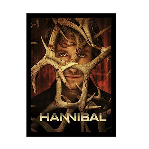 A&D Vintage Hannibal Film Vintage Poster Kunst Retro Wandbilder für Wohnzimmer Dekor Wandaufkleber Kraftpapier Gedruckt Malerei-50x70 cm Kein Rahmen