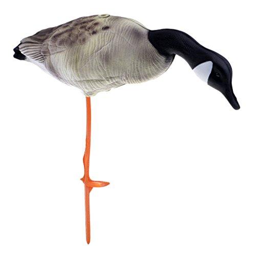 Homyl 3D Lifelike Full Body Goose, Greenhand Hunting Decoys Simulation Goose Decoys Lawn Garden Decoration - Eating Goose