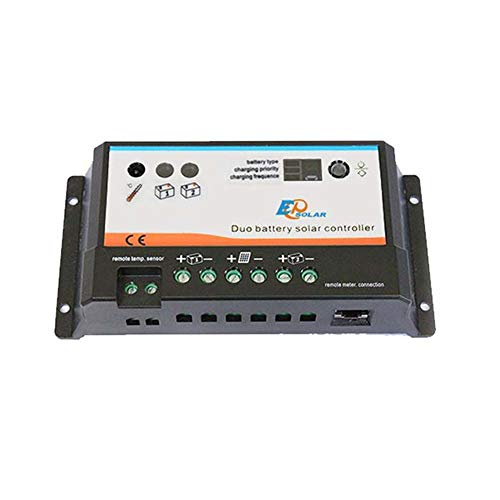 EPIPDB Regulador Solar Dual 20A Duo para 2 baterías Independientes 12V/24V