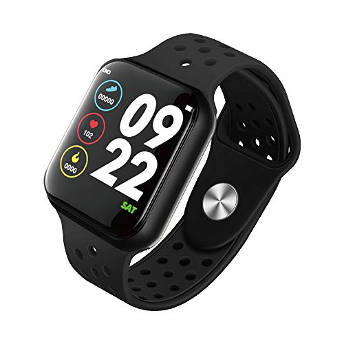 Smart Watch with Blood Oxygen Monitor, Blood Pressure, Fitness Tracker with Heart Rate Monitor, Touch Fitness Watch Compatible with Android & iOS for Men Women (Black)