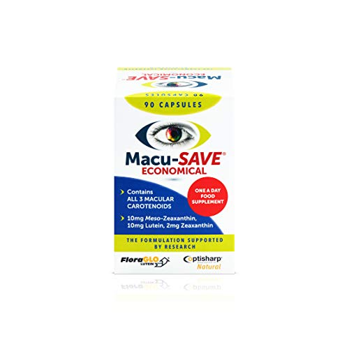 Macu-SAVE Food Supplement for Macular Health with Meso-Zeaxanthin/Lutein and Zeaxanthin - 90 Capsules