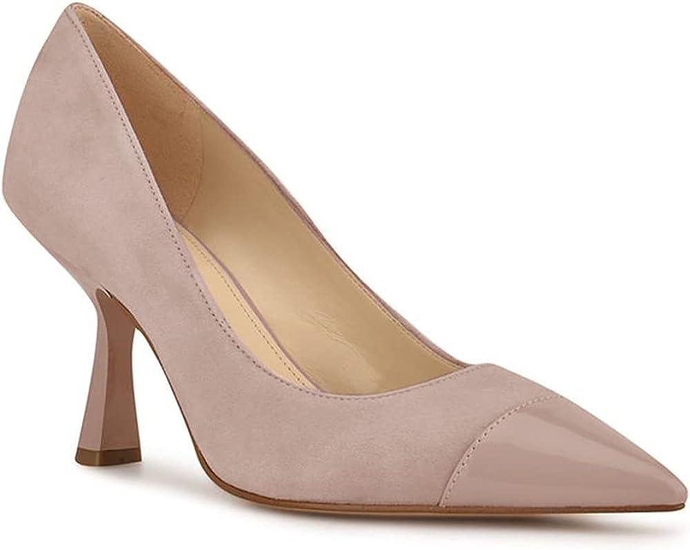 Trish Lucia Womens Classic Pointy Toe Mid Spasm price Dress Heels Rare Pumps Slip