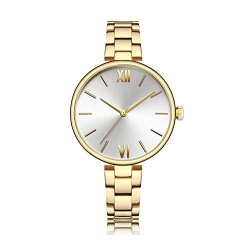 YQCH Relojes de Mujer Rose Gold Reloj de Lujo Mujeres Cuarzo A Prueba de Agua Reloj de Pulsera para Mujer Ladies Girls Relojes Reloj (Color : B)