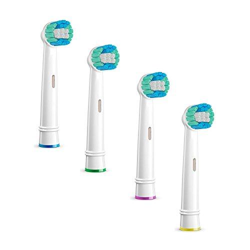 Tm Electron vervangende borstels voor elektrische tandenborstel, compatibel met Oral-B 4 Recambios