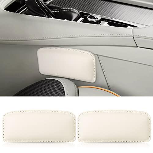 2PCS Cojín suave de cuero para la rodilla de la consola central, Cuidado de los pies del coche Leggings de la rodilla Cubierta Comodidad Almohada elástica Accesorios para el interior del autom
