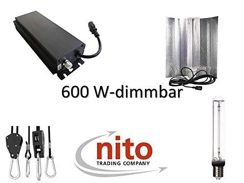 Generic Grow Light Set 600 Watt: dimmbares Vorschaltgerät, Reflektor und NDL
