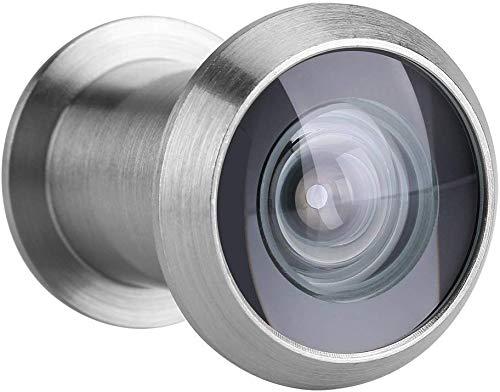 Zerodis Türspion mit Sichtschutz Door Viewer Security Peek Peephole optisches Glas 220 Grad Weitwinkel(Gebürstetes Silber)