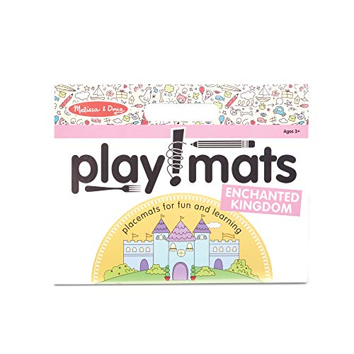 Melissa & Doug Playmats Enchanted Kingdom Take-Along Paper Coloring and Learning Activity Pads (24 Pages)