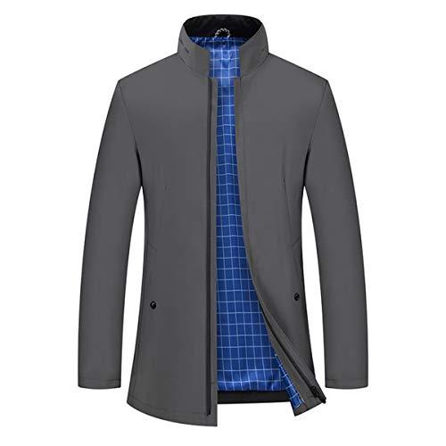 YYNUDA Trenchcoat męska kurtka przejściowa Slim Fit z zamkiem błyskawicznym, wiatroszczelna kurtka na lato jesień