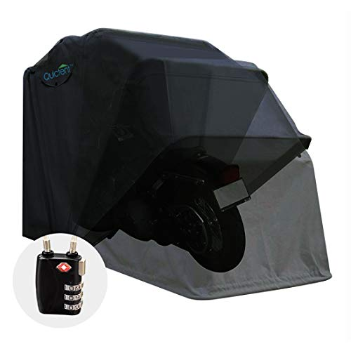 Quictent Heavy Duty Motorcycle Shelter Shed Tourer Cover Storage Garage Tent with TSA Code Lock & Carry Bag, Large Size