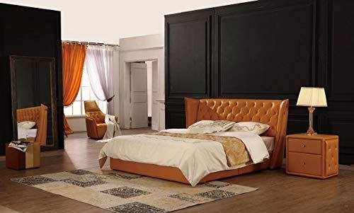 JVmoebel Cama de matrimonio de piel Chesterfield Hotel de lujo para dormitorio