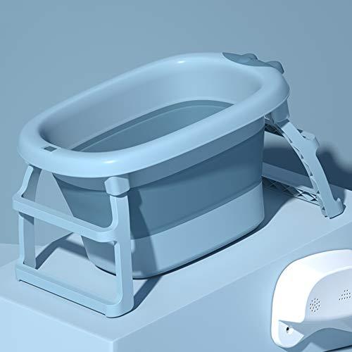 B&G Bañera Plegable del Bebé, Soporte De Baño Plegable Plegable, Plegable, Plegable para El Hogar, Proporcionando Una Posición De Soporte Segura,Azul