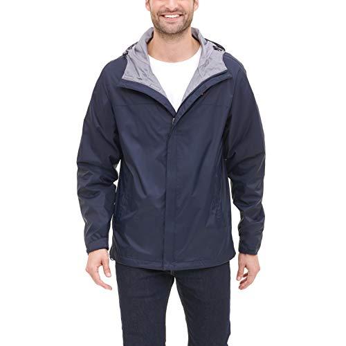 Tommy Hilfiger Men's Waterproof Breathable Hooded Jacket, Navy, Large