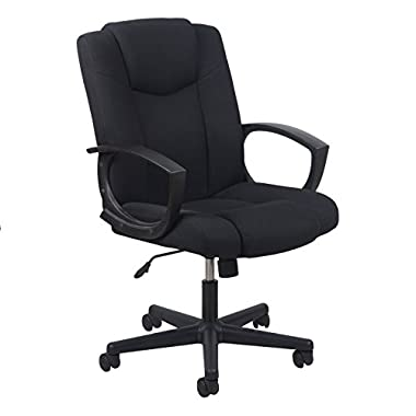 Essentials Swivel Upholstered Task Chair with Arms - Ergonomic Computer/Office Chair (ESS-3080)