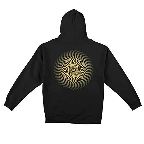 Spitfire Hood Classic Swirl Fade Black Yellow Sweatshirt, Classic Swirl Fade, Schwarz, Classic Swirl Fade M