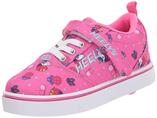 Heelys Pro 20 X2, Zapatos con Ruedas para Niñas, Pink/Hot Pink Unicorns, 29 EU