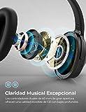 Mpow H12 Auriculares con Cancelación de Ruido Activo, Auriculares Diadema Bluetooth Plegable con 30H de Reproducir, Sonido Estéreo, Auriculares Diadema Inalámbricos con Micrófono para TV/Móvil/PC