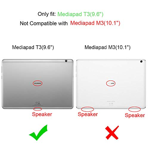 Fintie Huawei Mediapad T3 10 Hülle Case - Ultra Dünn Superleicht Flip Schutzhülle mit Zwei Einstellbarem Standfunktion für Huawei MediaPad T3 (9,6 Zoll) 24,3 cm Tablet-PC, Roségold - 2