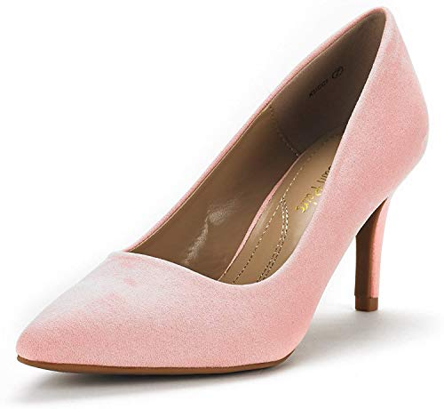 DREAM PAIRS Women's KUCCI Pink Classic Fashion Pointed Toe High Heel Dress Pumps Shoes Size 7 M US