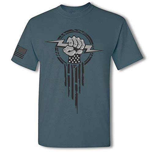 Product Image 5: Electrician Superhero Electrical Worker Lightning Bolt Fist Short Sleeve T-Shirt