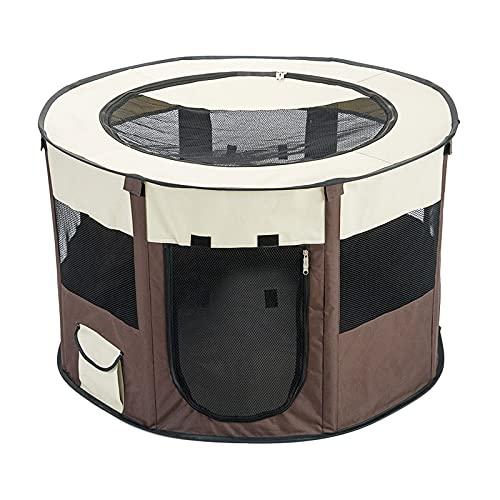 Amuzocity Tenda da Gioco Pieghevole per Cani E Gatti per Box per Animali Domestici Portatile - caffè M