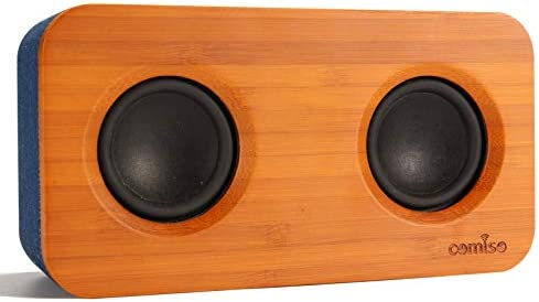 COMISO Bluetooth Speaker with Super Bass Stereo 20W Loud Bamboo Wood Home Audio Wireless Speakers product image