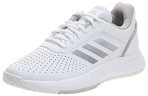 adidas COURTSMASH, Scarpe da Tennis Donna, Ftwr White/Matte Silver/Grey Two, 40 2/3 EU