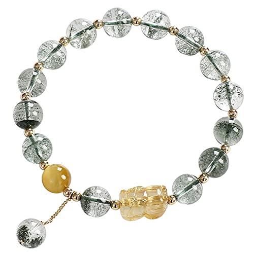 loknhg Green Ghost Crystal Bracelet, Girl's Blond Crystal Pixiu...