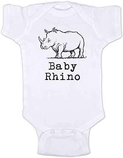 Baby Rhino Rhinoceros Cute Zoo Animal Bodysuit Shower Gift