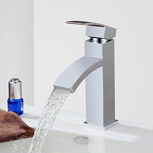 MDRW badkamer basin waterkraan enkele opening waterval plat beeld mond kraan platform wastafel hete en koude breedtes mond waterkraan