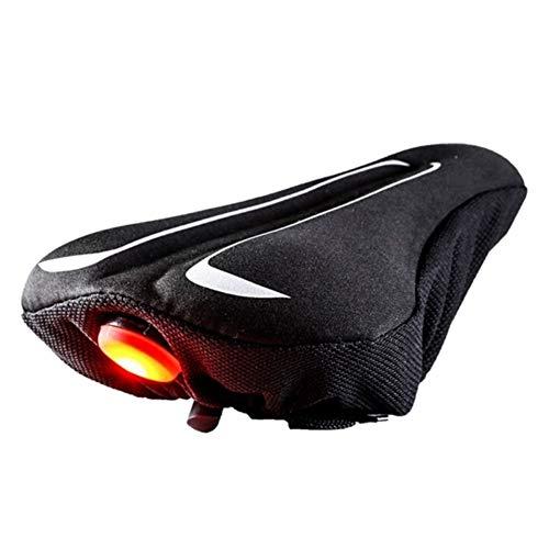 NOLOGO Yg-CT Bicicleta Suave de Gel de Silicona Cubierta del Amortiguador de Bicicletas Ciclismo Silla de Cubierta de Asiento Suave de Ciclo cojín con luz Trasera Ciclismo Silla (Color : S)