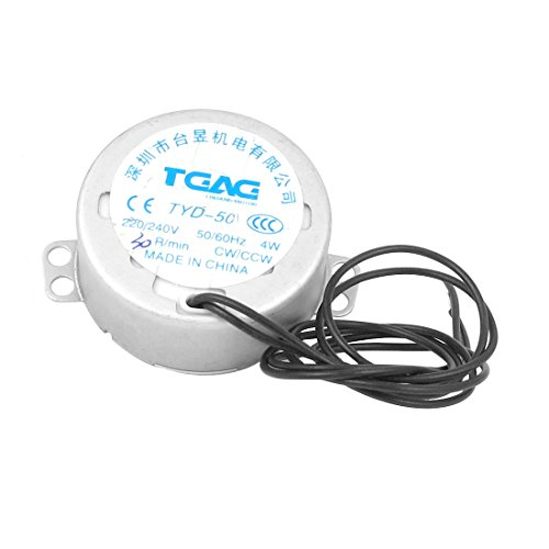sourcingmap AC 220 / 240V 50 / 60Hz CW/CCW 4W 30rpm Cable...